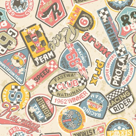 Kids racing badges patchwork