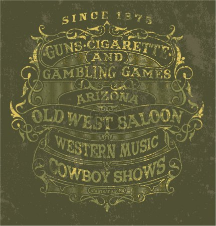 Old west style poster