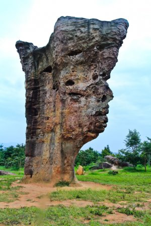 Stone face,The Amazing of Rock in National Park,Chaiyaphum-Thail