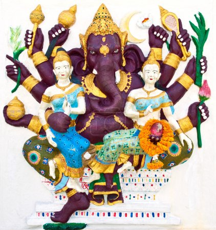 Indian or Hindu ganesha God Named Maha Ganapati at temple in tha
