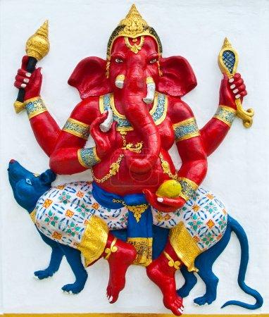 Indian or Hindu ganesha God Named Vijaya Ganapati at temple in t