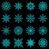 Create snowflake icons on black background