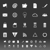 Web and internet icons on gray background