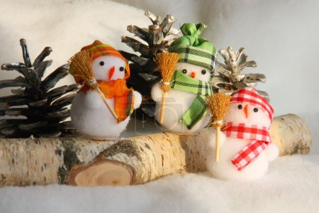 Christmas Snowman Family Picture: Xmas Card