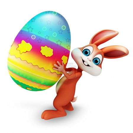 Photo for Illustration of bunny with big egg - Royalty Free Image