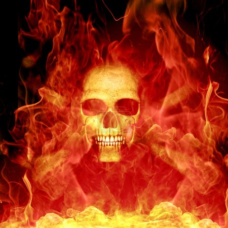 Photo pour Combustion du squelette - image libre de droit