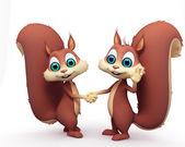 Két vicces mókus