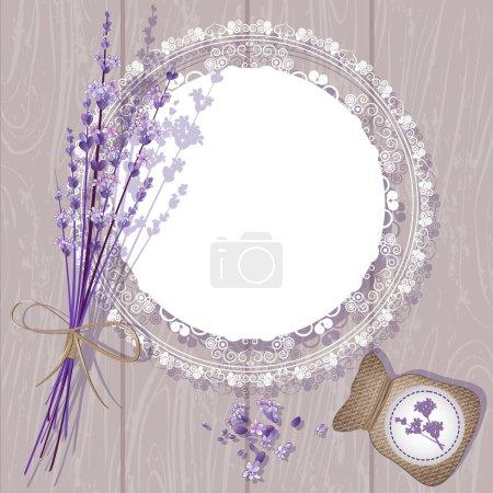 Illustration for Vector Lavender Background - Royalty Free Image