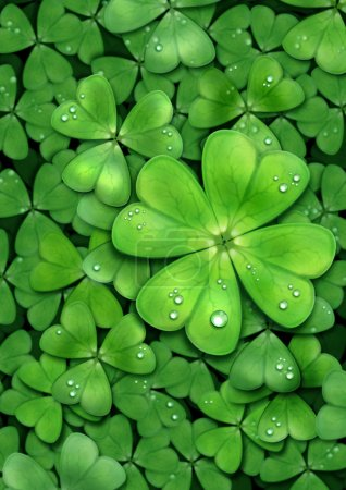Clover for luck. Patrick
