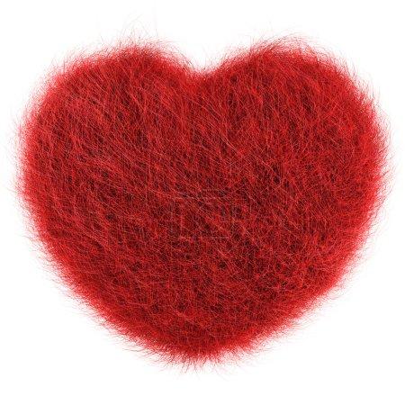 Photo pour 3D Render of Coeur de cheveux frisés - image libre de droit