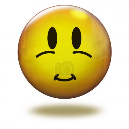 Render emoticon 3D. Dark circles