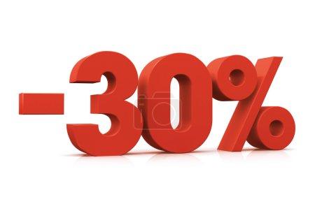 Percentage -30