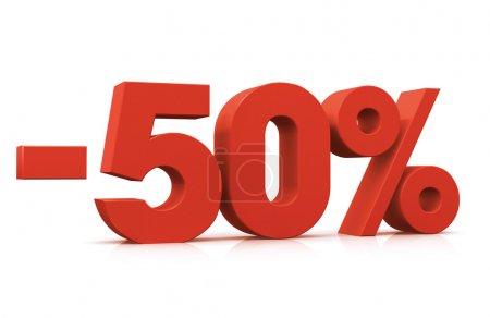 Percentage -50