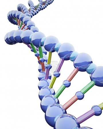 Photo for 3D Render of DNA in white background - Royalty Free Image