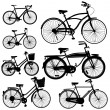 Set of Bicycle Vector isolate on white...
