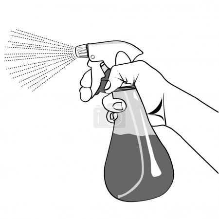 Illustration for The spray bottle on a white background. - Royalty Free Image