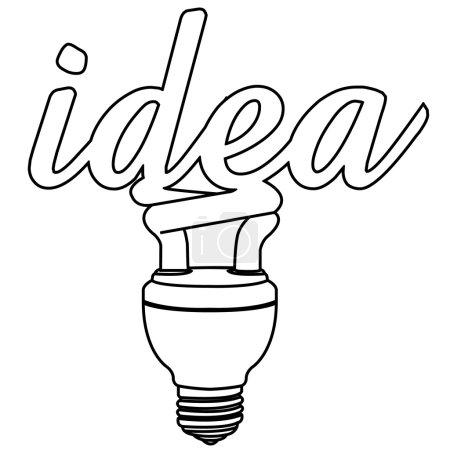 Light bulb idea outline vector
