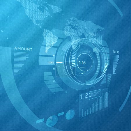 Photo pour Concept de design Hi-Tech pour le fond numérique infographie - image libre de droit