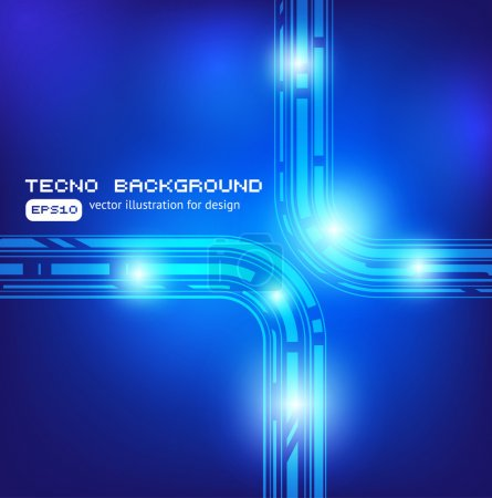 Illustration for Techno background - Royalty Free Image