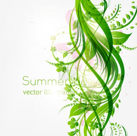 Illustration for Abstract floral background with place for your text. vector - Royalty Free Image