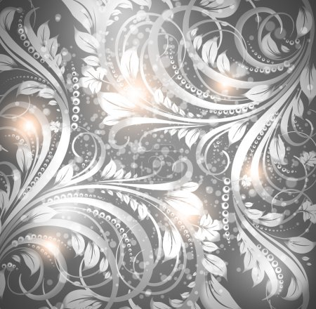 Seamless wallpaper pattern silver, vector