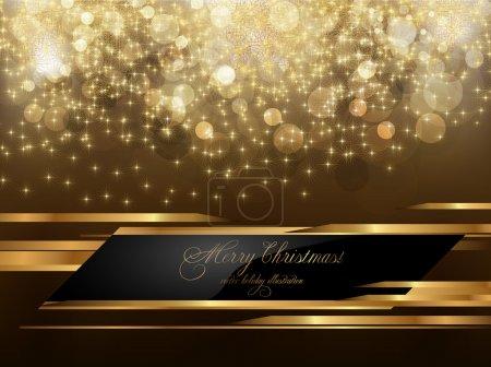 Illustration pour Élégant fond de Noël avec place pour la nouvelle invitation de texte année - image libre de droit