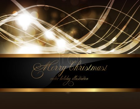 Illustration for Elegant christmas background with place for new year text invitation - Royalty Free Image
