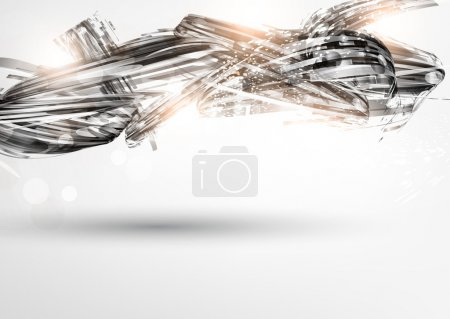 Abstract Metal Techno Background Vector