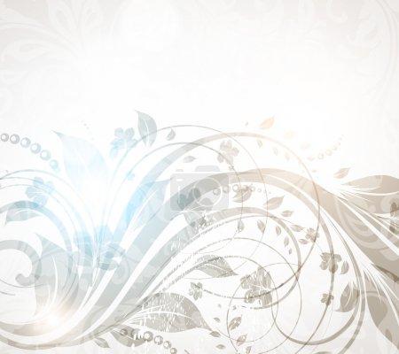 Illustration for Vector vintage floral background for retro design - Royalty Free Image