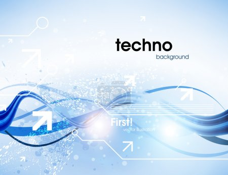 Illustration for Technology web background - Royalty Free Image