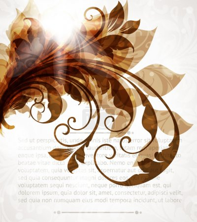 Illustration for Abstract vintage brown background for design - Royalty Free Image