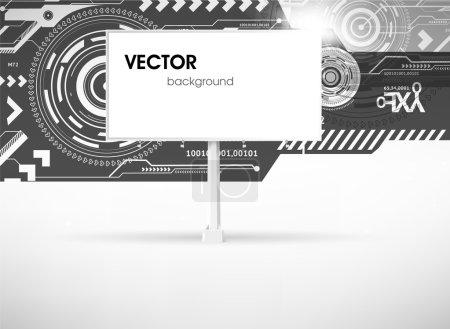 Techno background for design