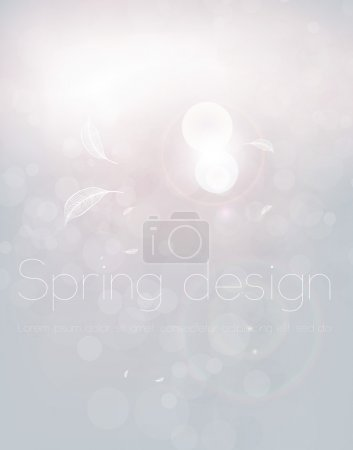 Luxury bright abstract greeting card. Vector spring or summer background