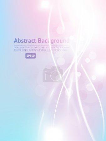 Illustration pour Carte de vœux abstraite lumineuse de luxe. Fond vectoriel printemps ou été - image libre de droit