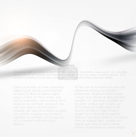 Illustration for Fresh bright design idea with shining element to attract attention to your message - Royalty Free Image