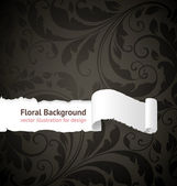 Seamless floral background with flowers pattern for wallpaper design black