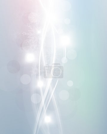 Vector illustration of blue abstract background with blurred magic light curved lines