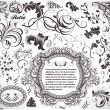 Abstract pattern for design. Floral retro elements...