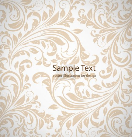 Seamless white Damask wallpaper