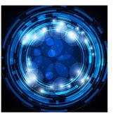 Abstraktní retro technologie kruhy vektorové pozadí pro obchodní design