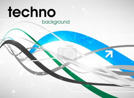 Technology web background for business design.