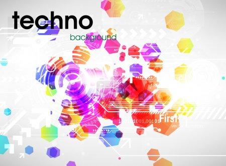 Techno background.