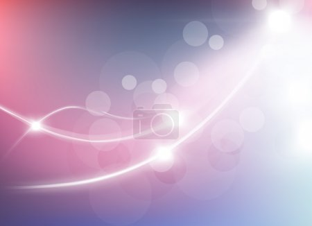 Vector illustration of abstract background with blurred magic light curved lines