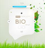Bio koncept designu ekologicky šetrné pro letní květinové banner