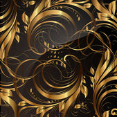 Seamless wallpaper pattern gold vector