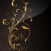Golden ornament with seamless background