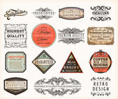 Old style Coffee frames and labels.