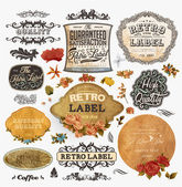 Old style Coffee frames and labels