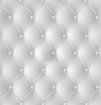 Illustration for Button-tufted leather background. Vector illustration. - Royalty Free Image