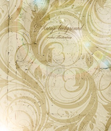 Illustration for Classical wall-paper with a flower pattern - Royalty Free Image